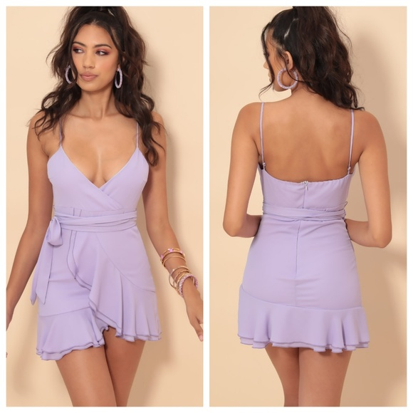 Lucy in the Sky Dresses & Skirts - NEW Lucy in the Sky  Lavender Chiffon Ruffle Dress